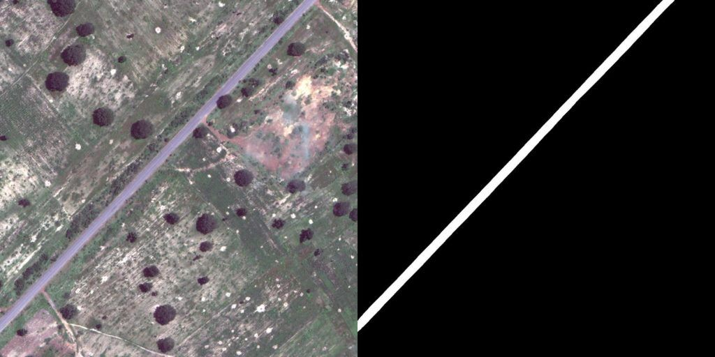 Roads detection in satellite imagery.